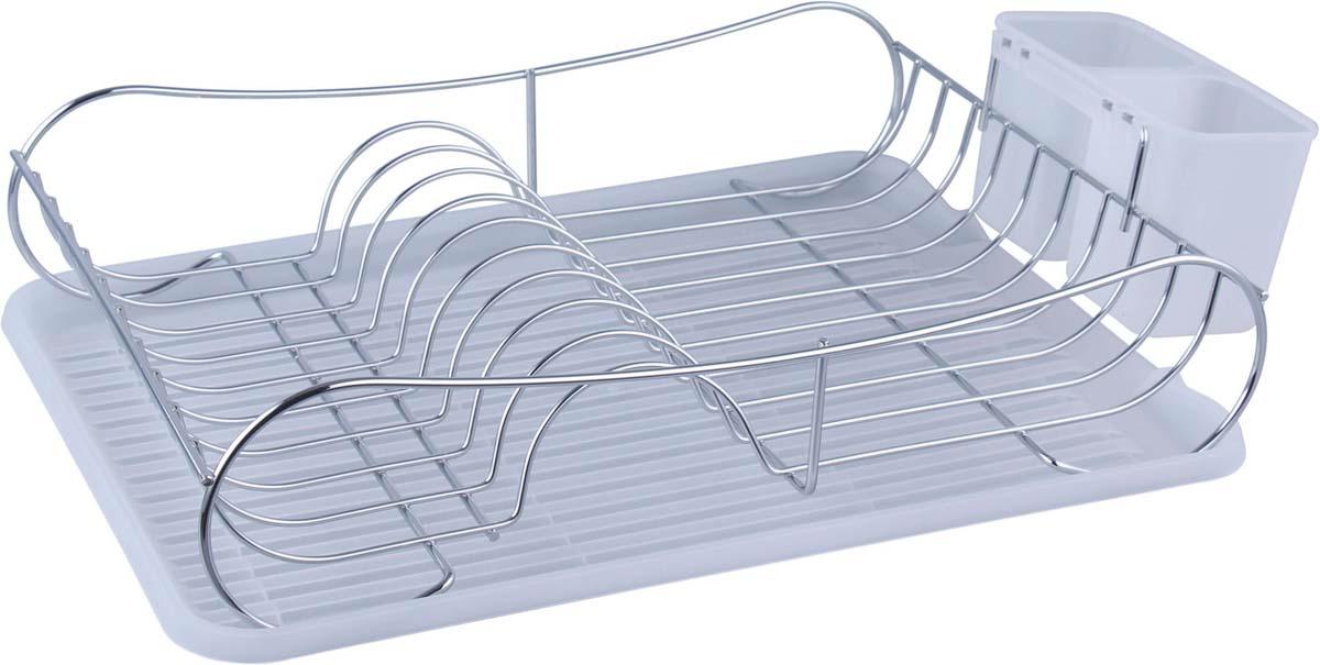 """Сушилка Bekker """"Koch"""", изготовленная из  нержавеющей стали,  представляет собой решетку с ячейками для  посуды и подставки для столовых приборов.  Изделие  оснащено пластиковым поддоном для стекания  воды. Сушилка Bekker """"Koch"""" не займет много места  на вашей кухне. Вы сможете разместить на ней  большое количество предметов.  Компактные размеры и оригинальный дизайн  выделяют эту сушилку из ряда  подобных. Размер сушилки: 43 х 32,5   х 11,5 см. Размер поддона: 43 х 32,5 х 2,5 см. Размер секции для приборов: 16 х 8,5 х 10 см."""