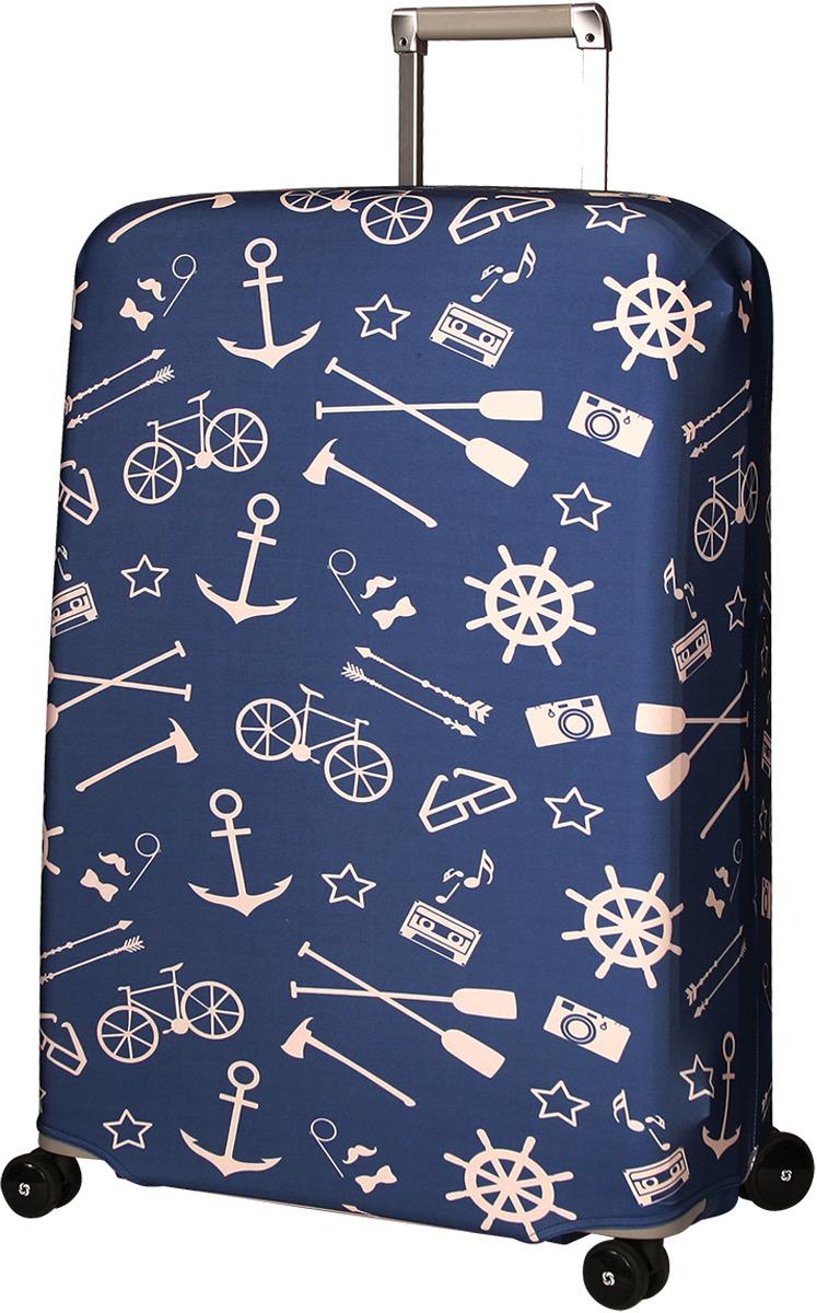 Чехол для чемодана Routemark Oldboy, цвет: синий, размер L/XL чехол для чемодана routemark 1960 размер s 50 55 см