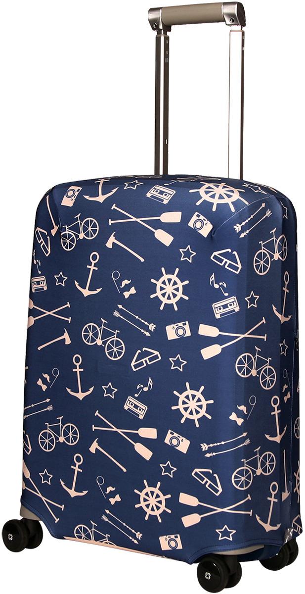Чехол для чемодана Routemark Oldboy, цвет: синий, размер S