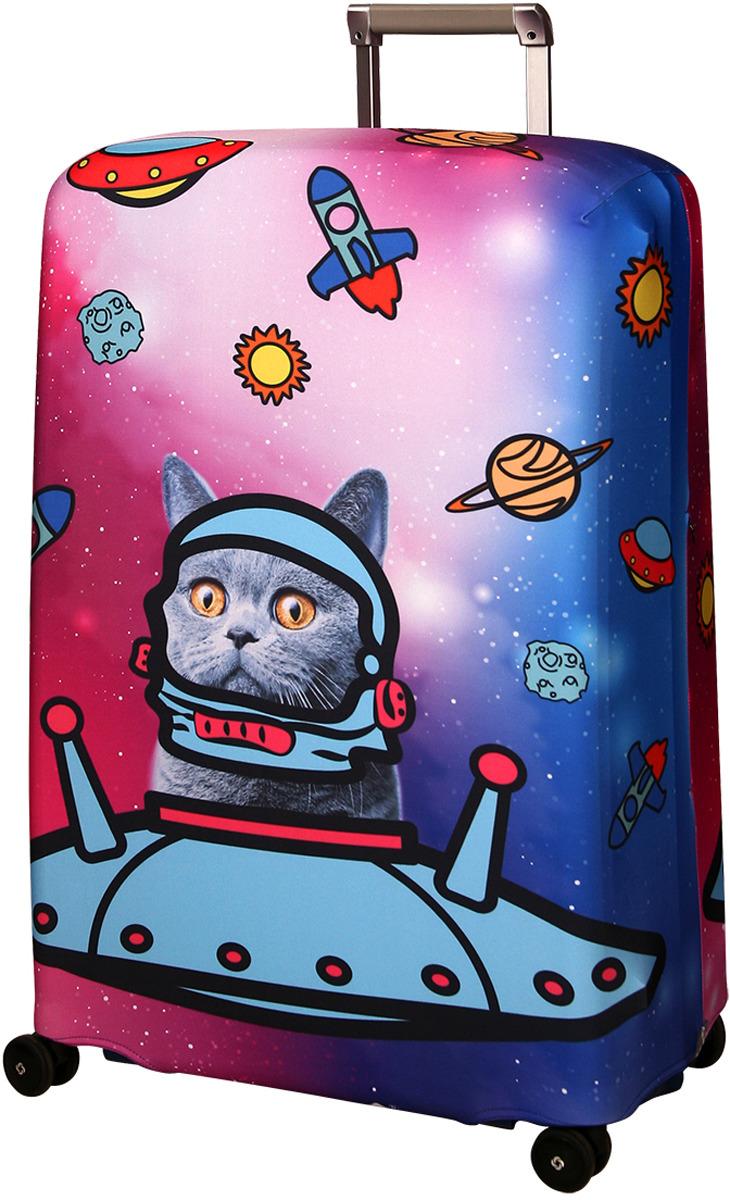 Чехол для чемодана Routemark Ракета, цвет: голубой, размер L/XL