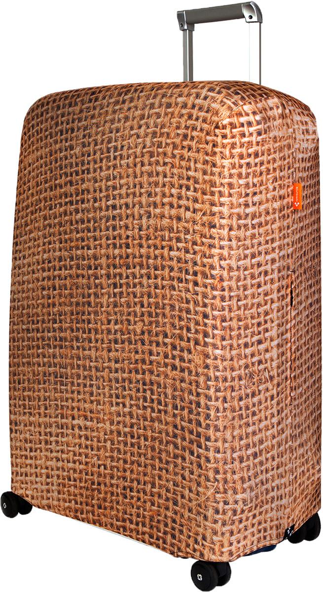 Чехол для чемодана Routemark Какой-то мешок на чемодане, цвет: светло-коричневый, размер L/XL