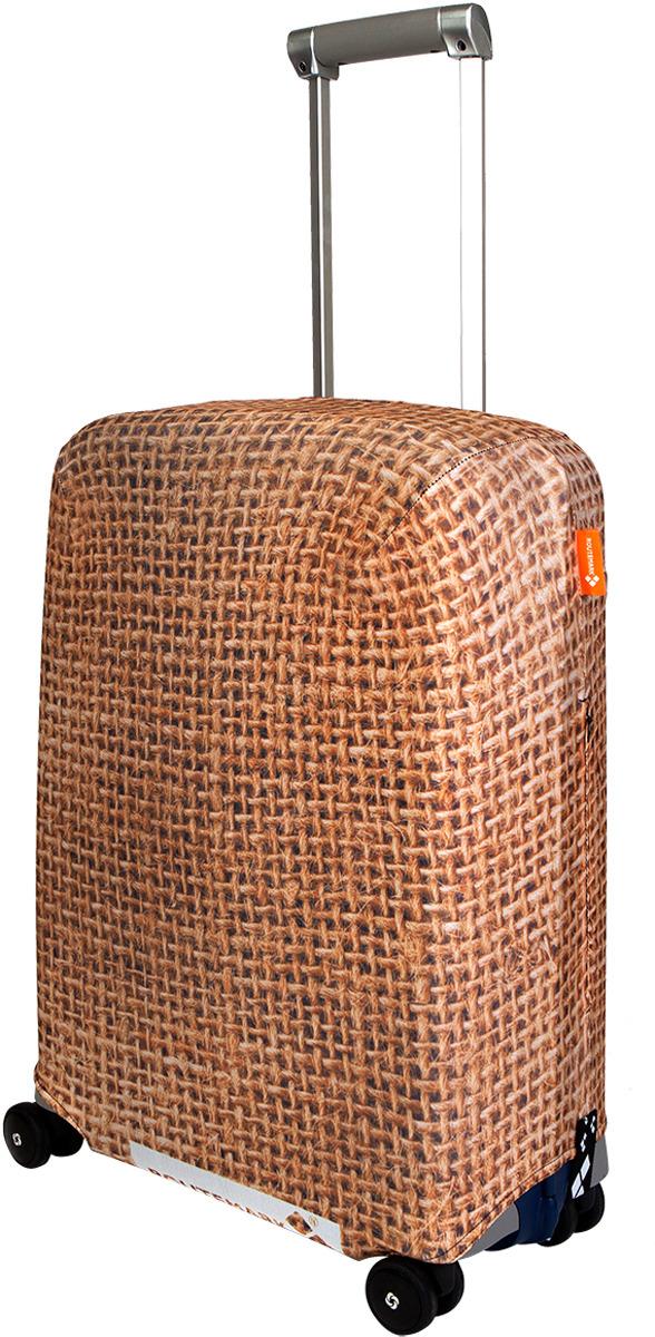 Чехол для чемодана Routemark Какой-то мешок на чемодане, цвет: светло-коричневый, размер S