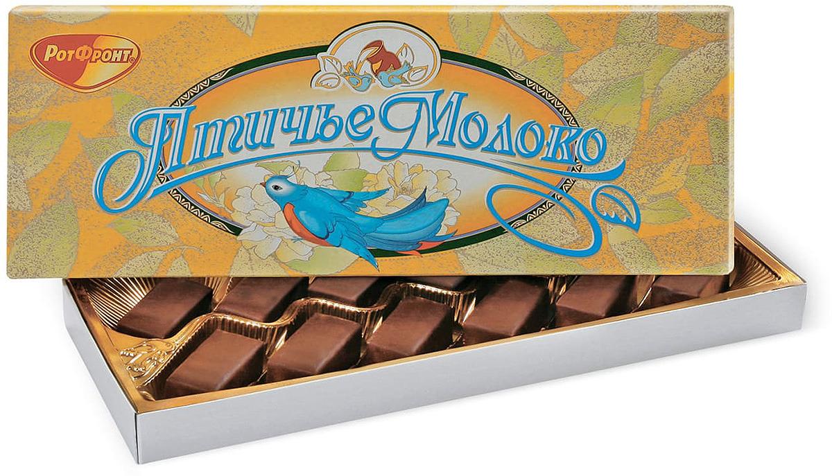 Конфеты Рот Фронт Птичье молоко, 160 г printio набор шоколадных конфет птичье молоко