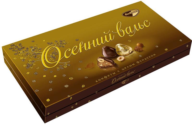 Конфеты Рот Фронт Осенний вальс, 320 г reber nougat молочный шоколад с ореховым и сливочным пралине 100 г