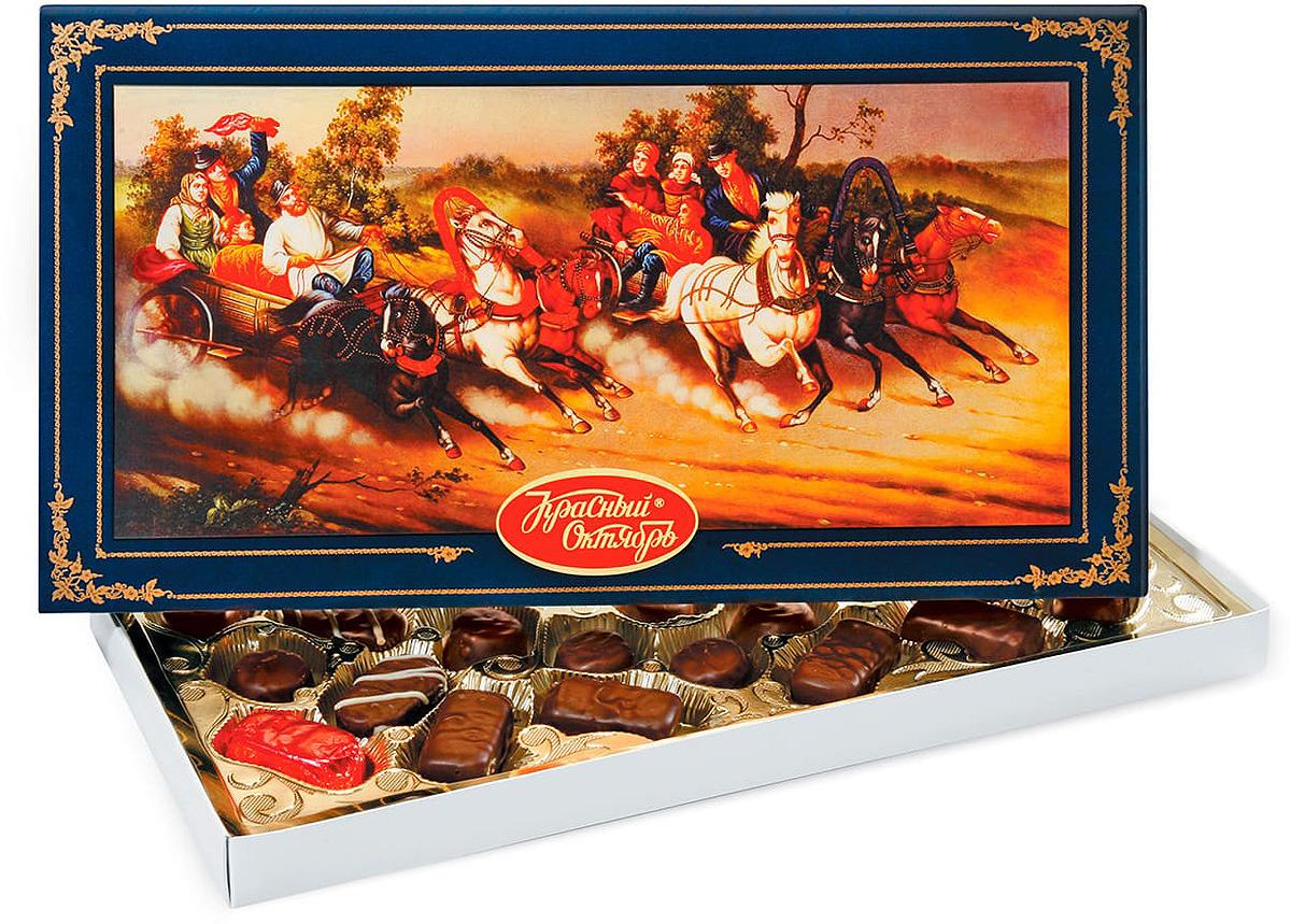 Конфеты Красный Октябрь Русь тройка, 350 г красный октябрь красная шапочка конфеты с вафельной начинкой в шоколадной глазури 250 г