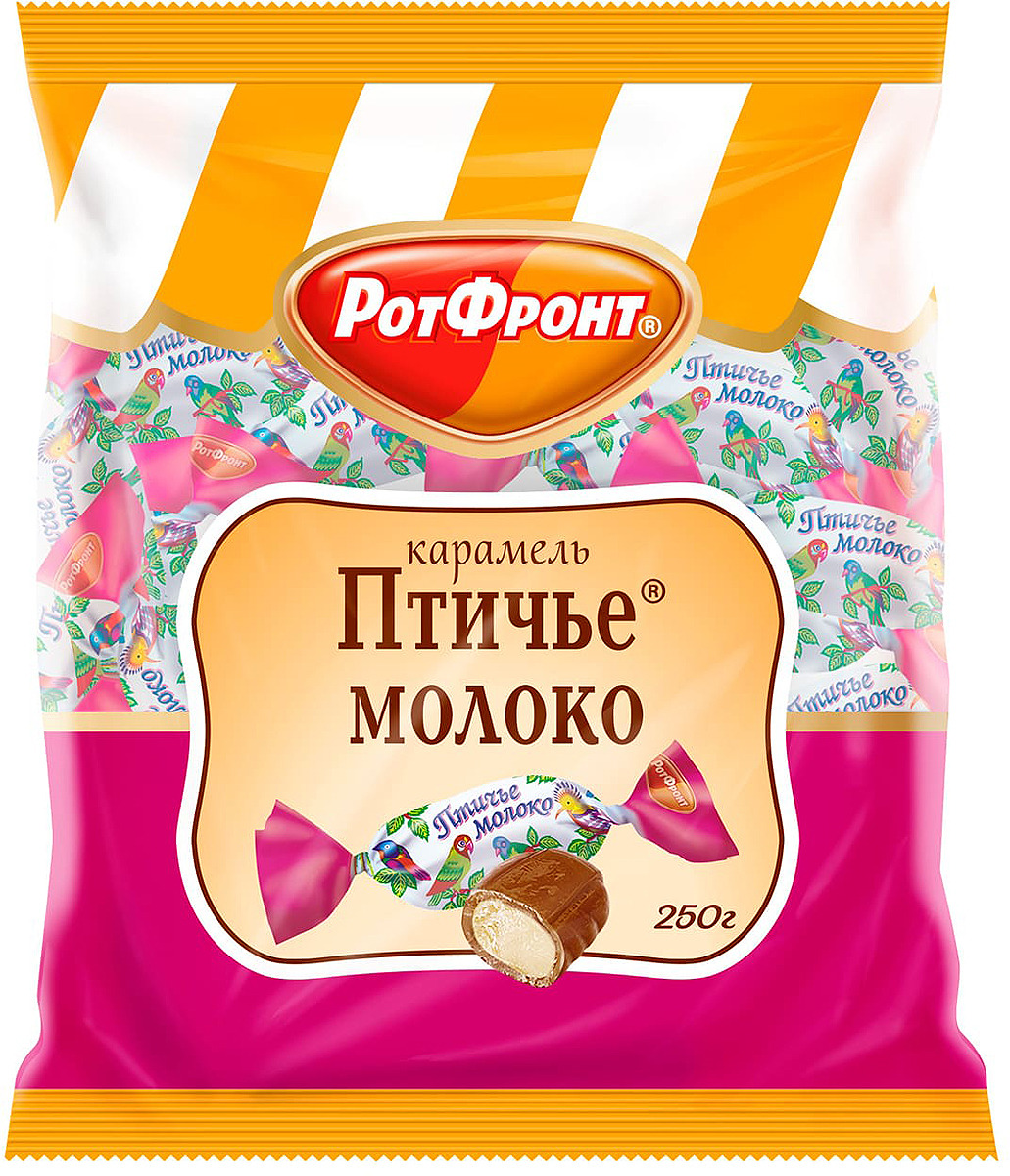 Карамель Рот Фронт Птичье молоко, 250 г молоко