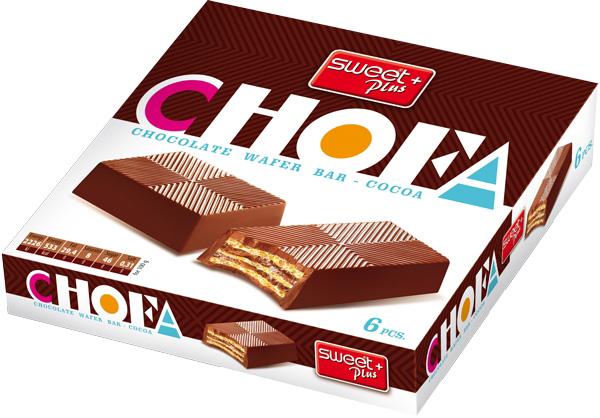 Вафельный десерт Sweet + Plus Chofa, шоколадный, с какао кремом, 110 г bauli круассаны на натуральной закваске с ванильным кремом 20