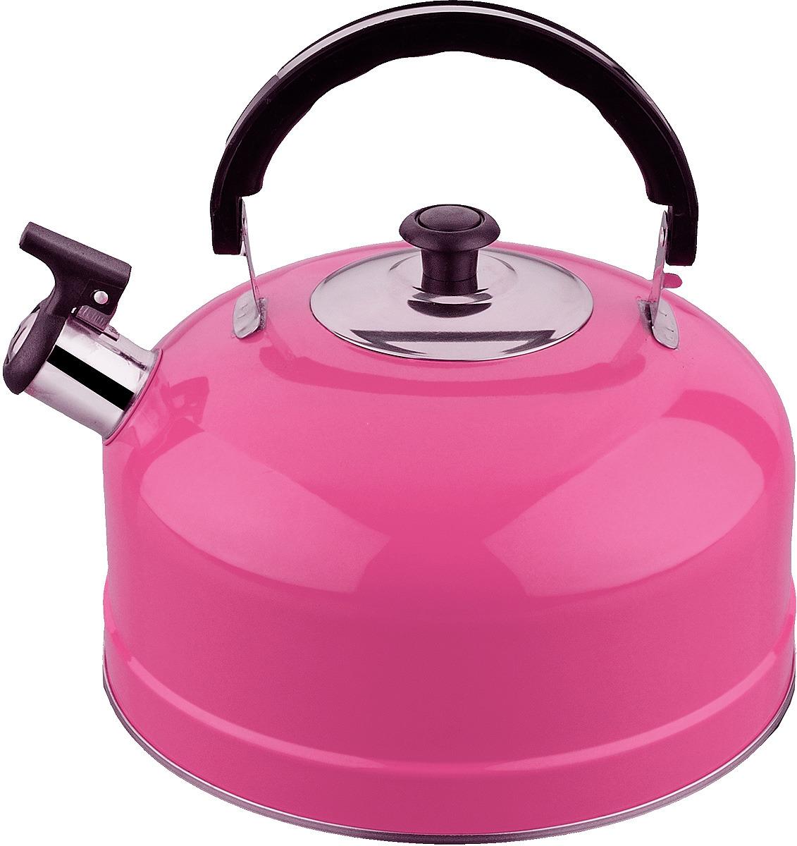 Чайник Irit, со свистком, цвет: розовый, 2,5 л emalia olkusz 1907 чайник со свистком 2 0 л emalia olkusz 1907 585g 20 274 274 шиповник ваниль