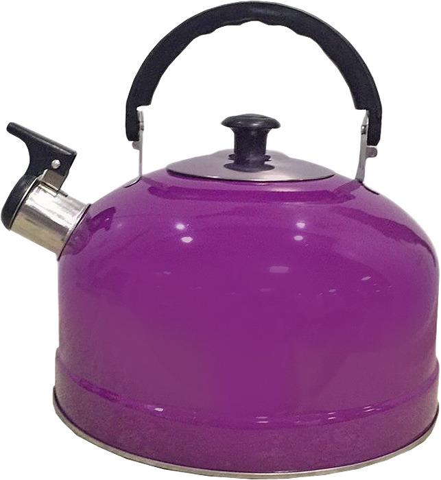 Чайник Irit, со свистком, цвет: фиолетовый, 2,5 л чайник ласковый май со свистком цвет белый 2 5 л