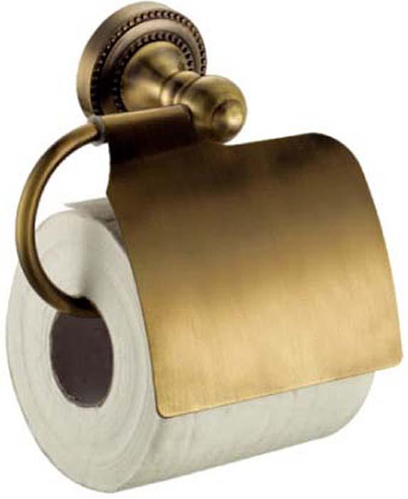Держатель для туалетной бумаги Fixsen Antik, с крышкой, цвет: бронза. FX-61110 держатель для полотенец fixsen antik трубчатый цвет бронза 60 см fx 61101