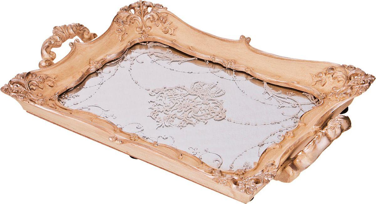 Поднос Lefard, цвет: бронзовый, 32,5 х 3,5 х 21 см lefard поднос courtney 33х44 см
