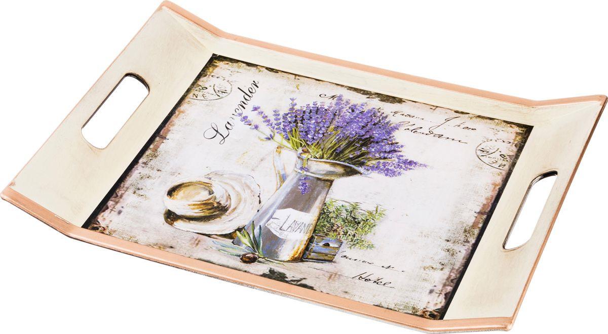 Поднос Lefard Старинный прованс, цвет: разноцветный, 37,5 х 27 см фоторамка lefard старинный прованс цвет бронзовый 10 х 15 см