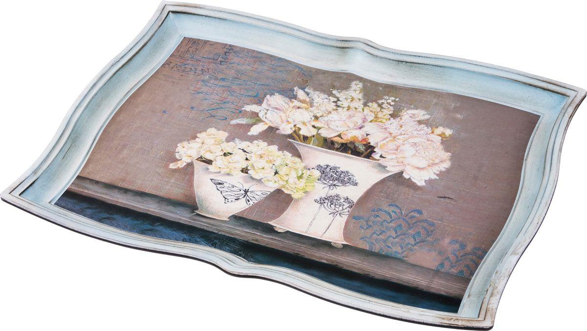Поднос Lefard Старинный прованс, цвет: разноцветный, 42 х 30 см фоторамка lefard старинный прованс цвет бронзовый 10 х 15 см