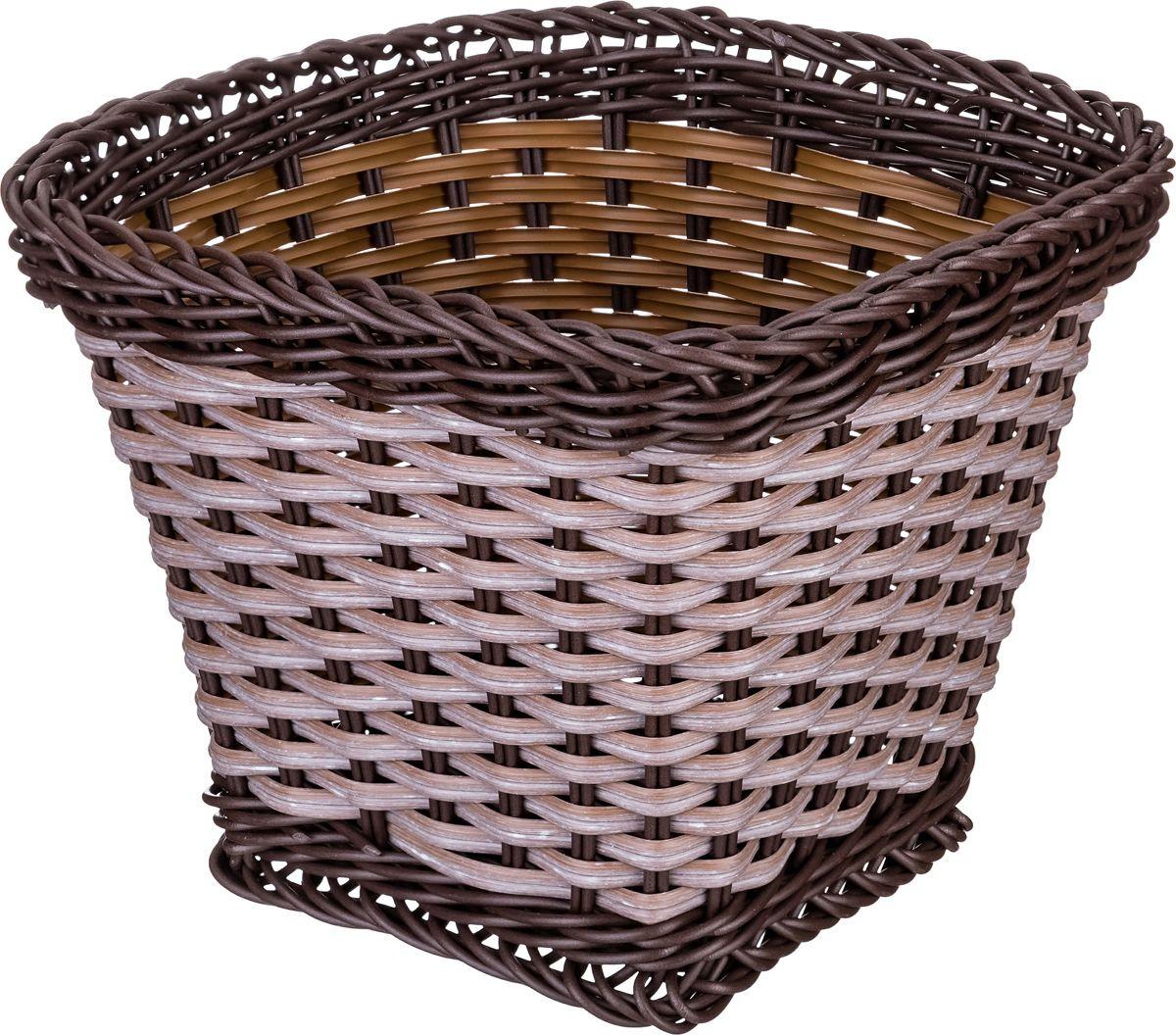 Корзина для мелочей Lefard, цвет: коричневый, 20 х 17 х 14 см контейнер для мелочей violet цвет белый 16 х 17 х 18 см