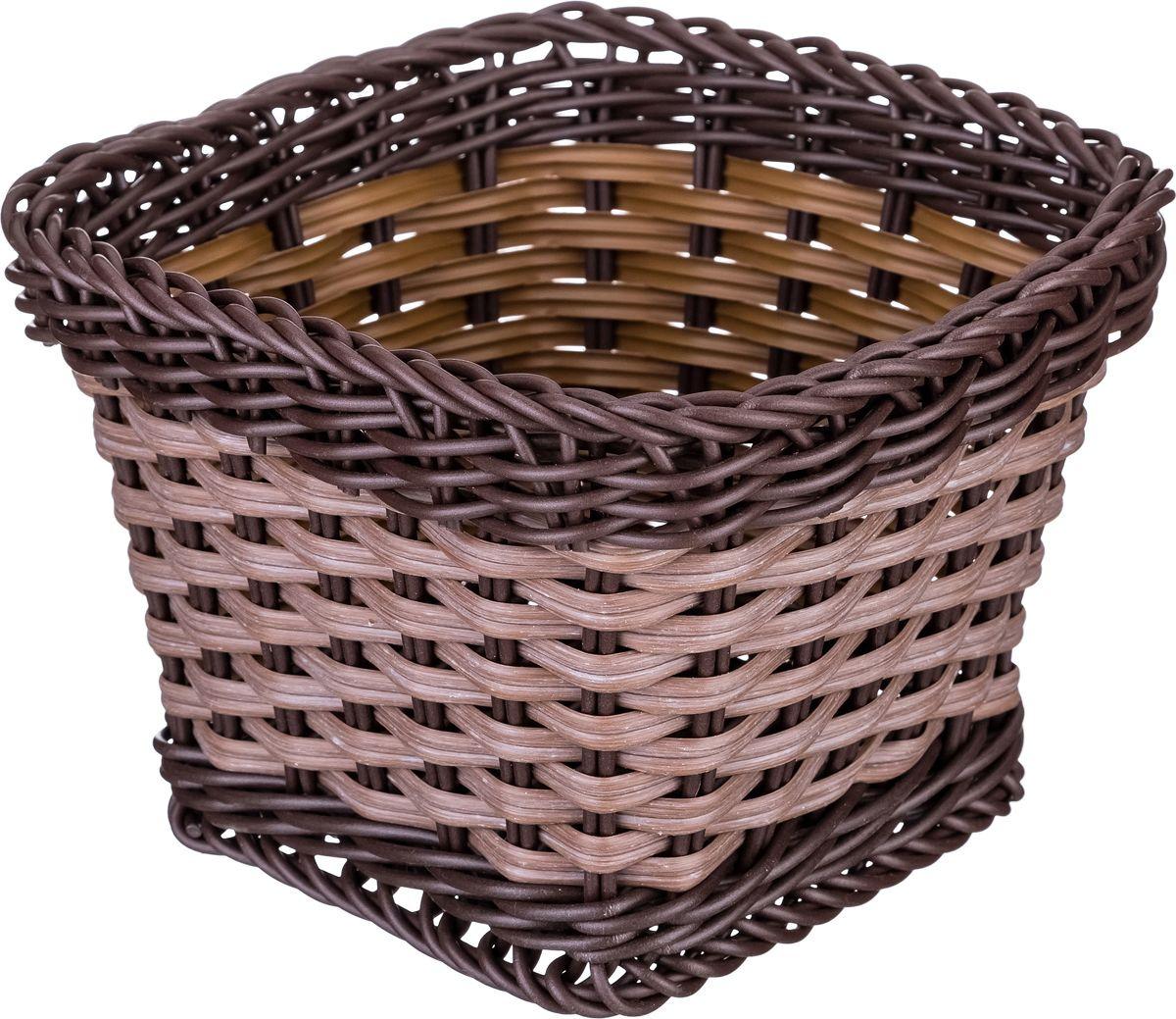 Корзина для мелочей Lefard, цвет: коричневый, 14 х 14 х 10 см lefard сувенир louise 10 см