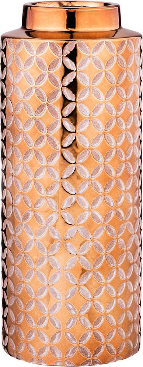 Ваза Lefard, цвет: бронзовый, 10 х 10 х 25 см lefard ваза dikla 26 см
