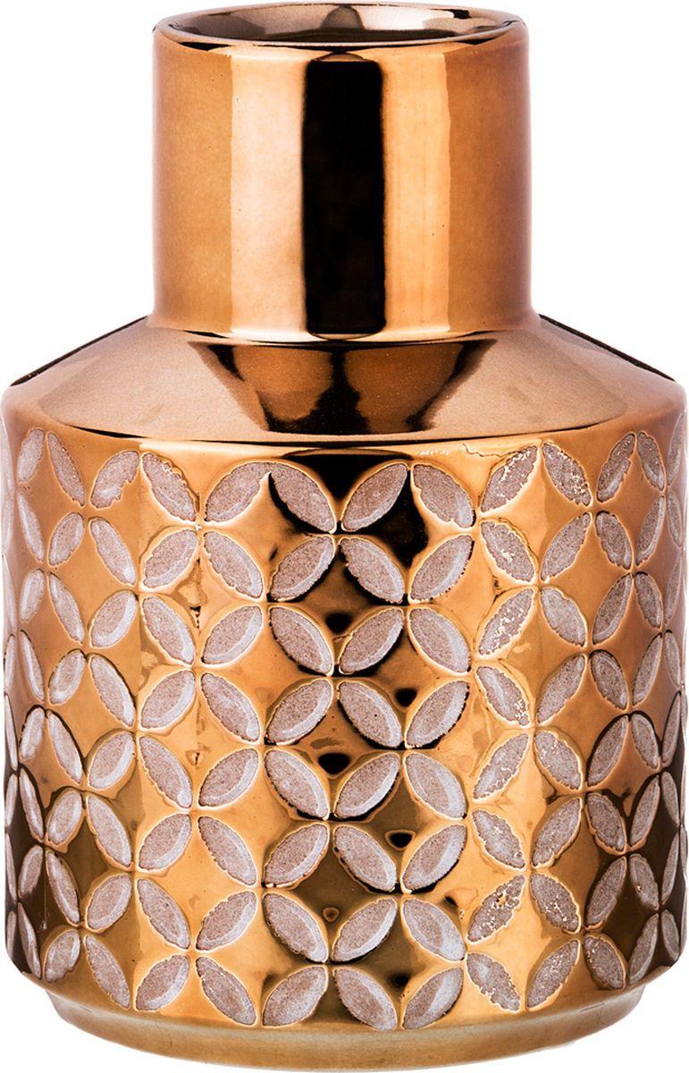 Ваза Lefard, цвет: бронзовый, 11,5 х 11,5 х 16,5 см lefard ваза dikla 26 см