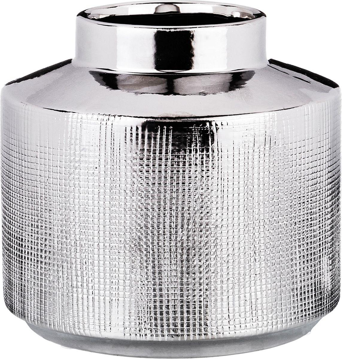 Ваза Lefard, цвет: серебристый, 13 х 13 х 12 см lefard ваза eldora 26 см