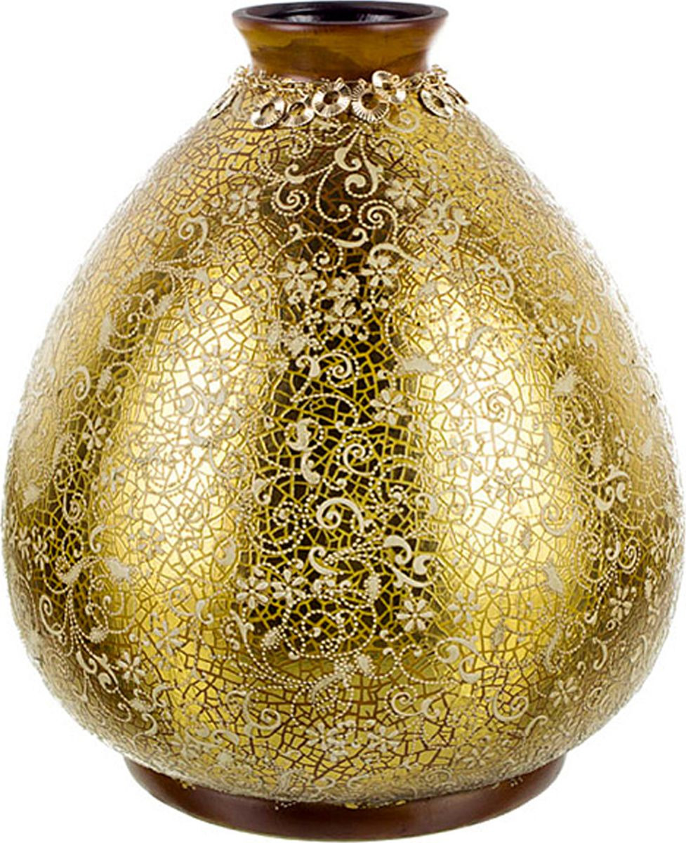 Ваза Lefard Душевное равновесие, цвет: золотистый, высота 31 см lefard ваза shena 30 см