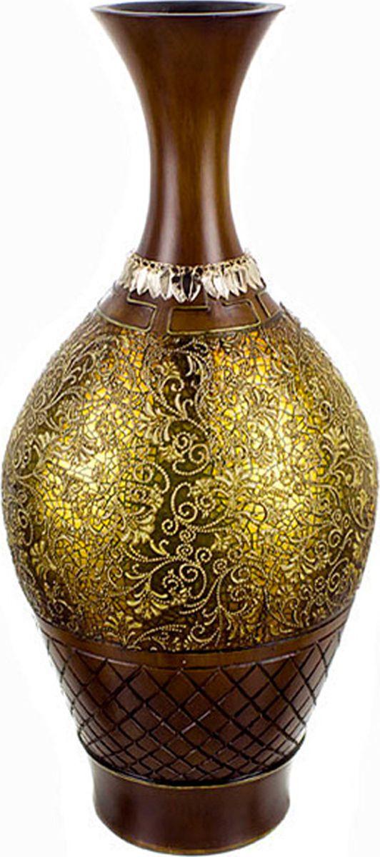 Ваза Lefard Золотой песок, цвет: коричневый, высота 51 см lefard ваза dikla 26 см