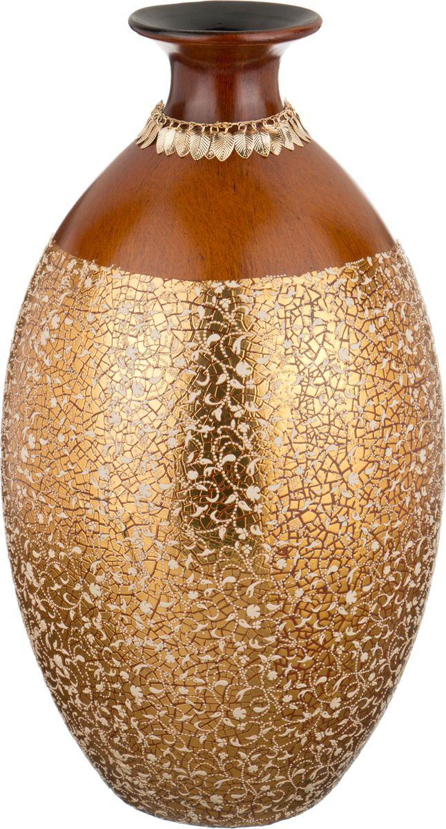 Ваза Lefard Золотая россыль, цвет: коричневый, высота 42 см lefard ваза annabell 25 см