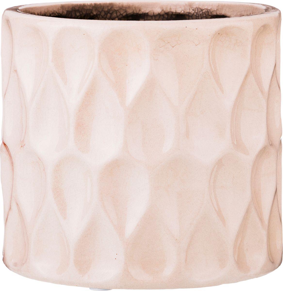 Кашпо Lefard, цвет: розовый, 14 х 14 х 13 см кашпо engard цвет желтый 12 5 х 10 х 13 см