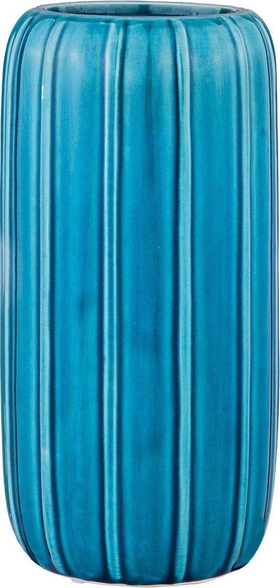 Ваза Lefard, цвет: голубой, 12,5 х 12,5 х 24,5 см lefard ваза shena 30 см