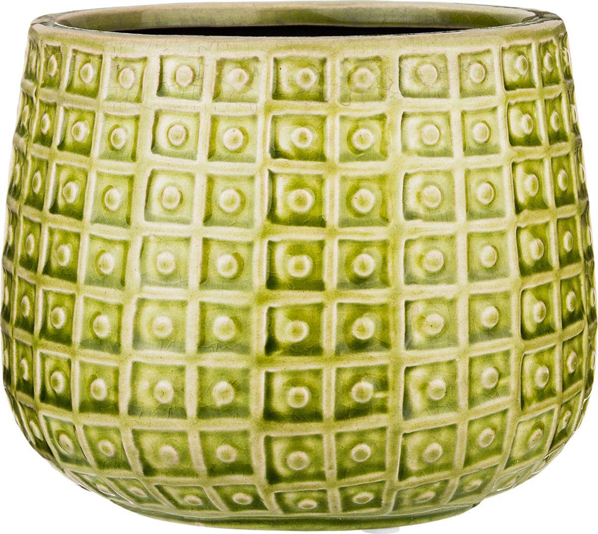 Ваза Lefard, цвет: светло-зеленый, 15,5 х 15,5 х 13 см ваза lefard цвет серебристый 13 х 13 х 12 см