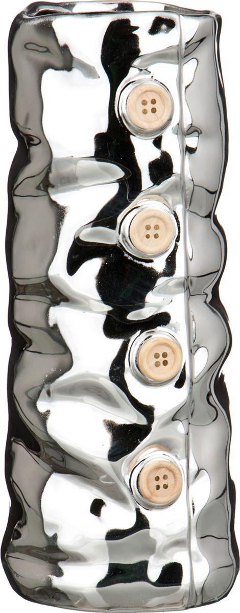 Ваза Lefard, цвет: серебристый, 9,8 х 9,4 х 23,5 см ваза lefard цвет серебристый 13 х 13 х 12 см