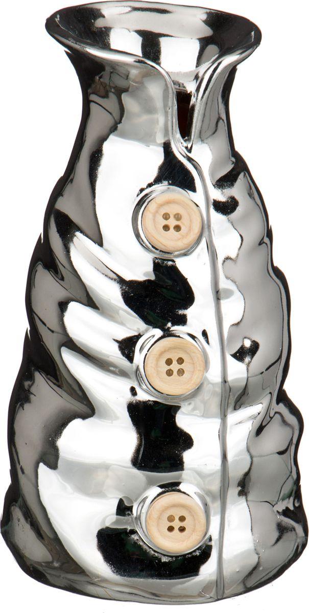Ваза Lefard, цвет: серебристый, 9 х 9 х 16,3 см крючок lefard 768 304