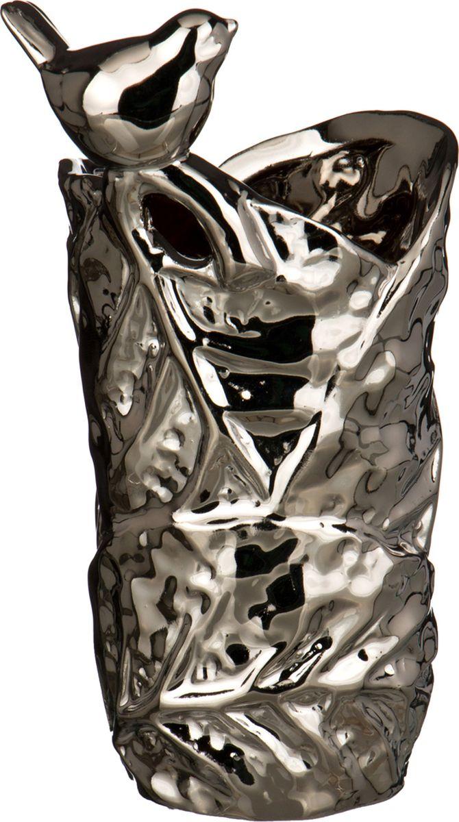 Ваза Lefard, цвет: серебристый, 8,5 х 7,8 х 16,2 см lefard ваза shena 30 см