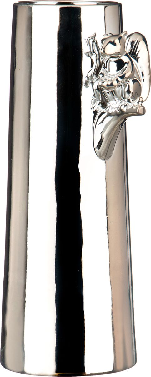 Ваза Lefard, цвет: серебристый, 17,3 х 12,7 х 33,5 см lefard ваза shena 30 см