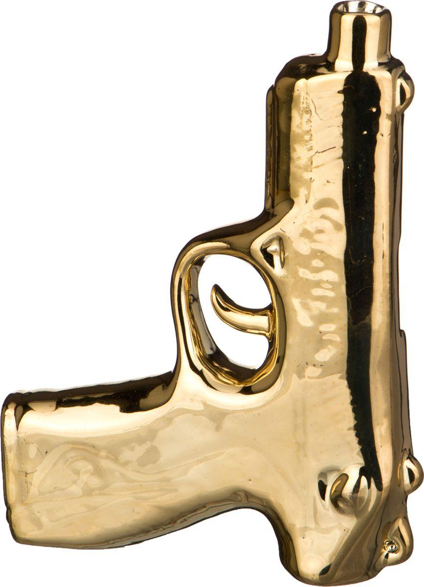 Ваза Lefard Пистолет, цвет: золотистый, 12,3 х 3,3 х 16,6 см lefard ваза dikla 26 см