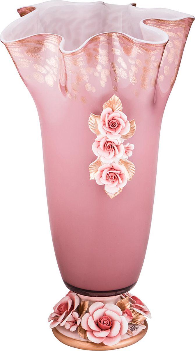 Ваза Lefard Флорентина, цвет: розовый, 24 х 24 х 40 см. 251088 термосумка avs 24 5 х 19 х 24 см