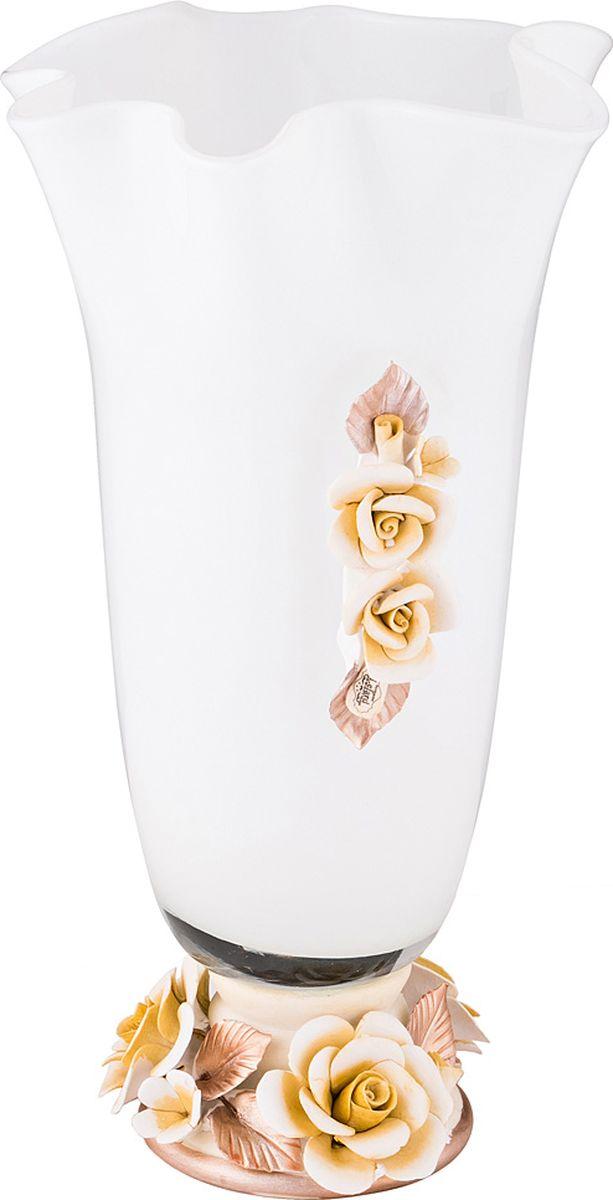 """Ваза Lefard """"Флорентина"""", цвет: белый, 20 х 20 х 34,5 см. T5126"""