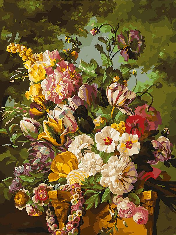 """Картина по номерам Белоснежка """"Букет в саду"""". 265-AS"""