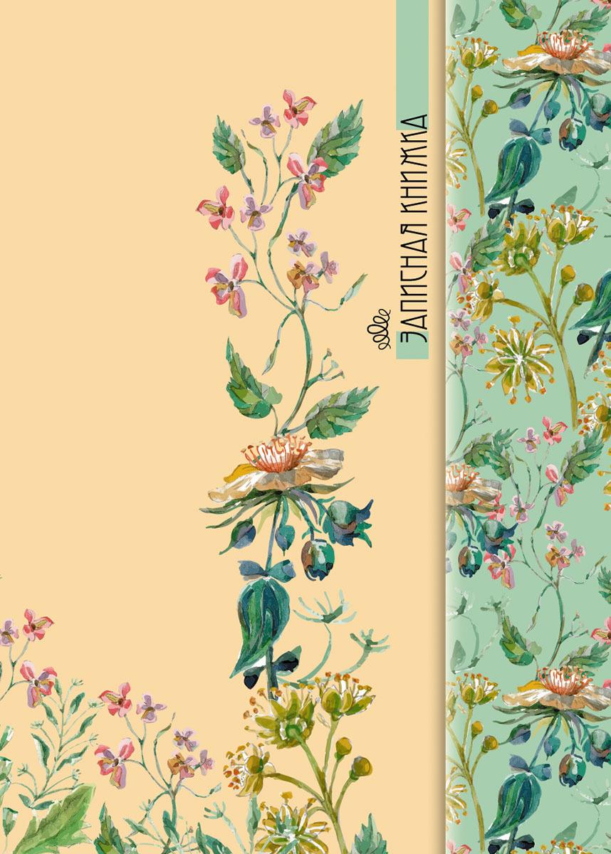 Записная книжка PlanO Акварельные цветы, формат А7, в линейку, 100 листов записная книжка все дороги ведут в париж 70 листов