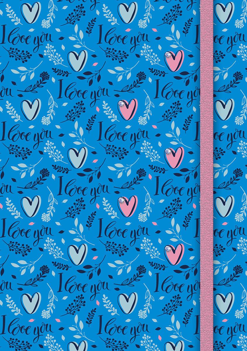 Ежедневник PlanO Сердечки, формат А5, в линейку, 80 листов ежедневник 80 листов а5 папирус 18217