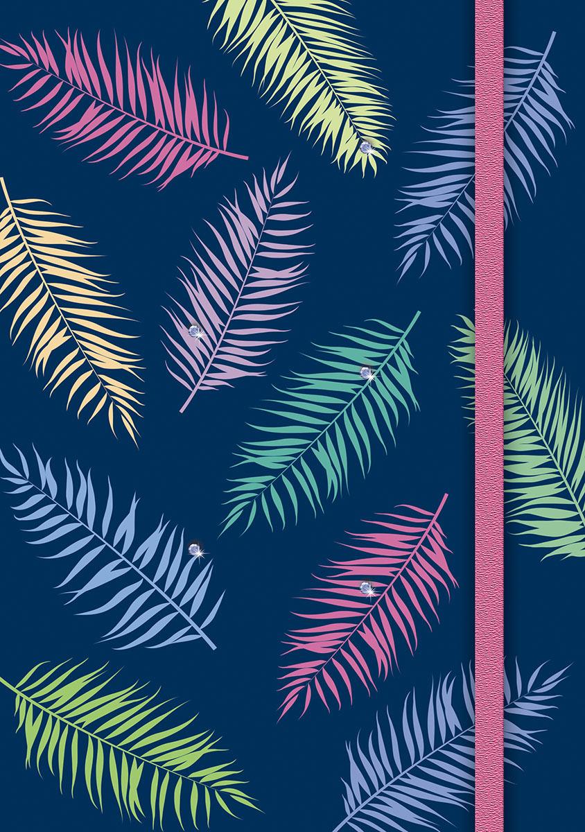 Ежедневник PlanO Тропические листья, формат А5, в линейку, 80 листов ежедневник 80 листов а5 папирус 18217