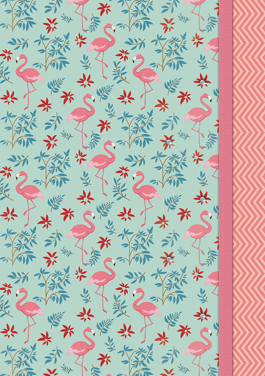 Ежедневник PlanO Розовые фламинго, формат А5, в линейку, 80 листов ежедневник 80 листов а5 папирус 18217