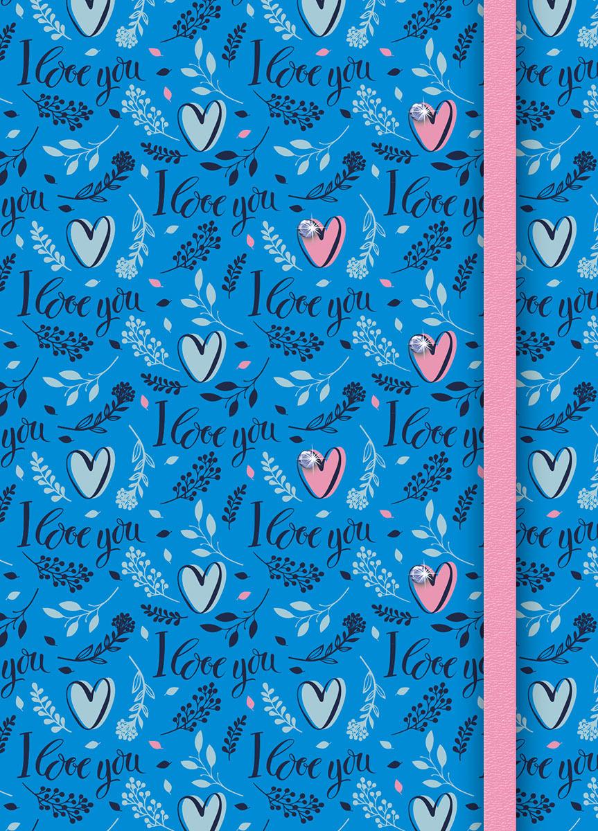 Записная книжка PlanO Сердечки, формат А6, в линейку, 80 листов канц эксмо записная книжка лисички орнамент в линейку 80 листов формат а6
