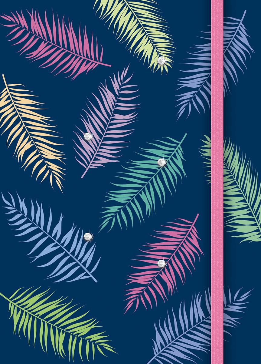 Записная книжка PlanO Тропические листья, формат А6, в линейку, 80 листов канц эксмо записная книжка лисички орнамент в линейку 80 листов формат а6