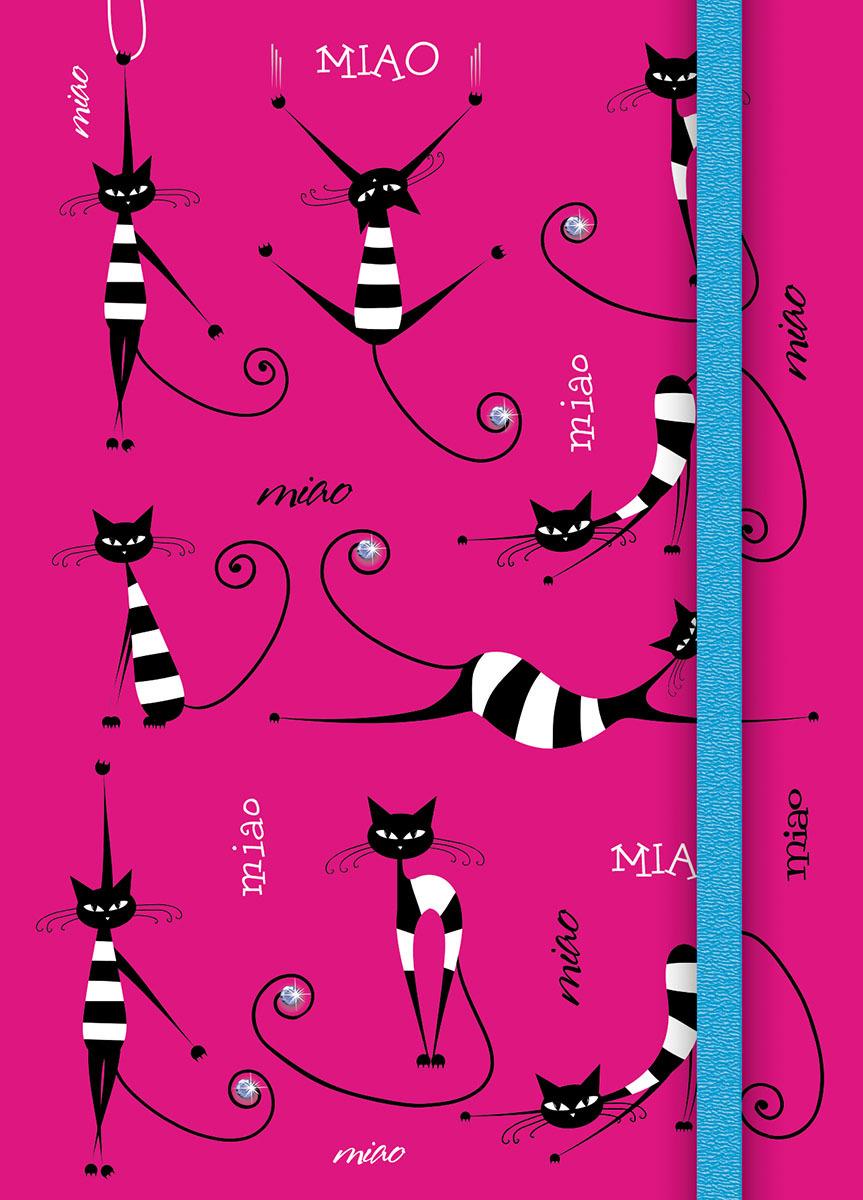 Записная книжка PlanO Полосатые кошки, формат А6, в линейку, 80 листов канц эксмо записная книжка лисички орнамент в линейку 80 листов формат а6