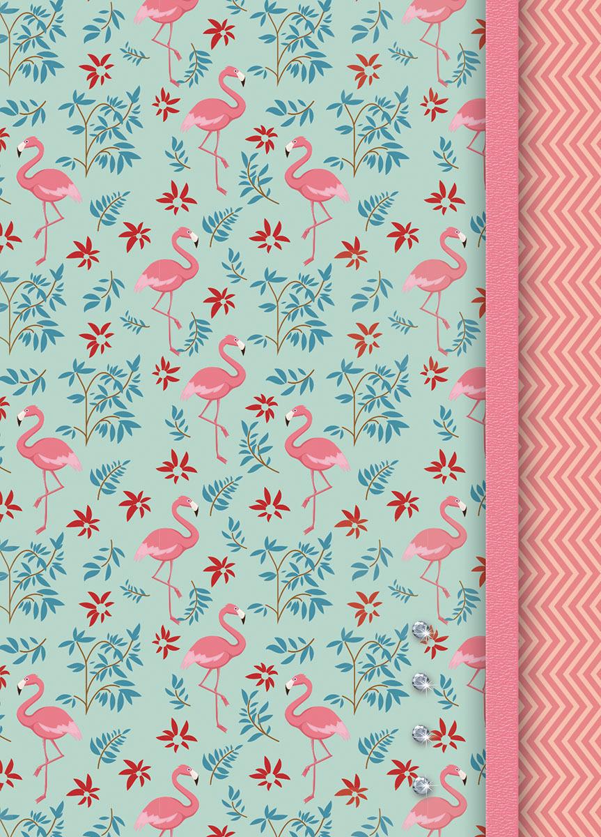 Записная книжка PlanO Розовые фламинго, формат А6, в линейку, 80 листов канц эксмо записная книжка лисички орнамент в линейку 80 листов формат а6