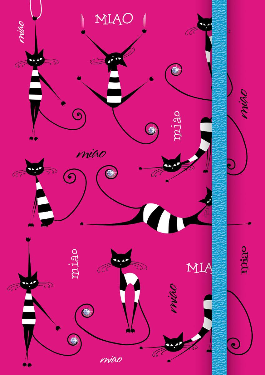 Записная книжка PlanO Полосатые кошки, формат А7, в линейку, 80 листов записная книжка все дороги ведут в париж 70 листов