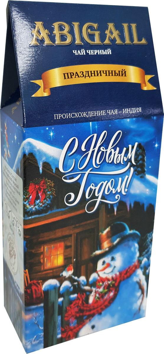 Чай листовой черный Abigail Праздничный домик. Снеговик, 85 г newby hi chung зеленый листовой чай 125 г