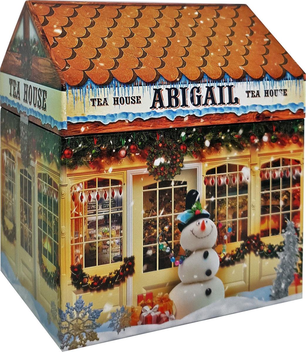 Чай листовой Abigail Чайный домик со снеговиком, жасминовая спираль, 50 г plum snow зеленая улитка зеленый листовой чай с дыней 100 г