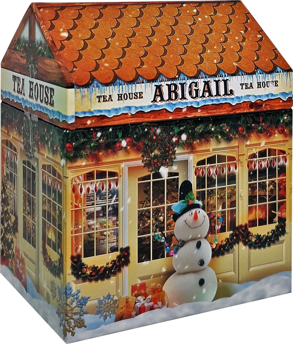 Чай листовой Abigail Чайный домик со снеговиком, сенча, 85 г plum snow зеленая улитка зеленый листовой чай с дыней 100 г