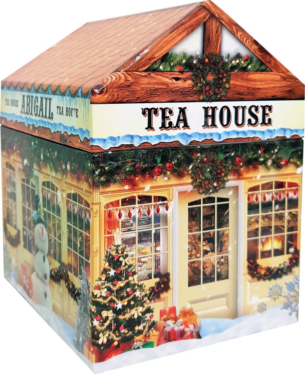 Чай листовой Abigail Чайный домик со снеговиком, сенча, 170 г чайный чай ebony