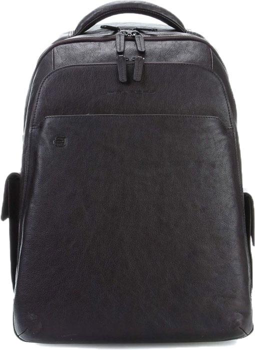 Рюкзак мужской Piquadro Black Square, цвет: черный. CA3444B3BM/N кошелек piquadro blue square синий телячья кожа pu257b2 blu2